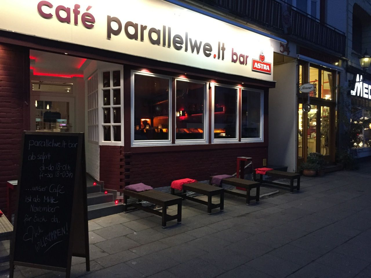 Cafe Parallelwe.lt Bar Hamburg