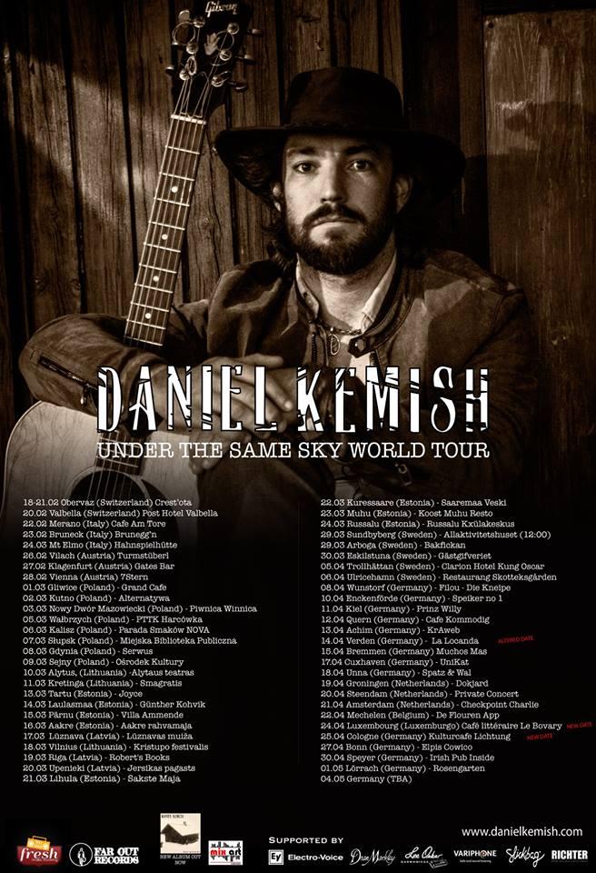 Daniel Kemish auf Tour