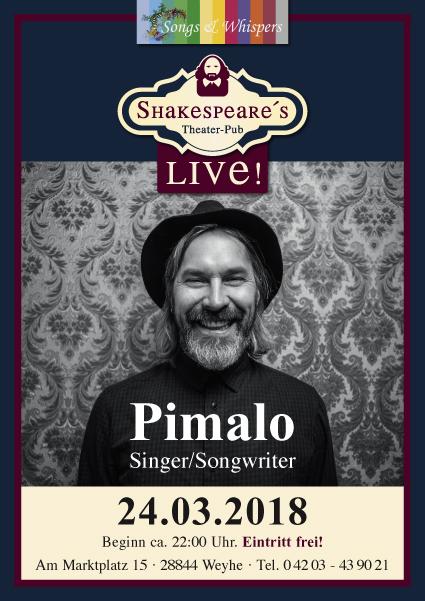 Pimalo live im Shakespeares Theater-Pub Weyhe