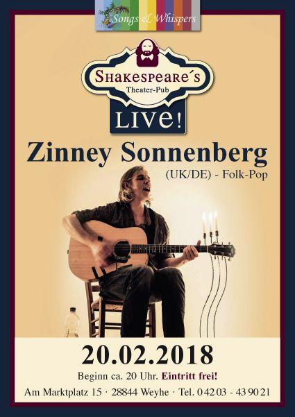 Zinney Sonnenberg live im Gewölbe Vegesack